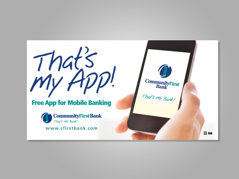 Community First Bank's introduction to the Mobile App.