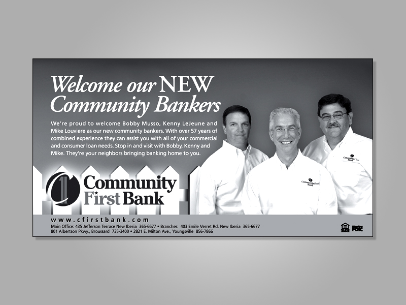 Community First Bank welcomes new employees.